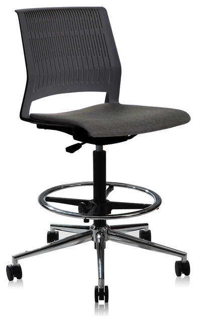 modern drafting chair stand test score height adjustable contemporary office black