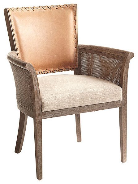Rustic StitchedBack Armchair  Contemporary  Armchairs
