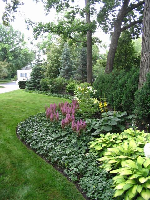 Informal Garden Winnetka Illinois Traditional Landscape