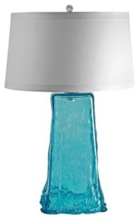Aqua Wave Recycled Glass Table Lamp - Beach Style - Table ...