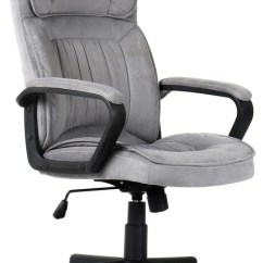 Microfiber Office Chair Bedroom Ottoman Executive Padded With Lumbar Support Transitional Chairs By Onebigoutlet