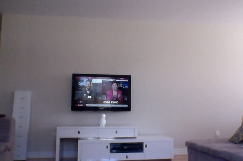 how to decorate living room wall shelves small with desk ideas big empty a mounted tv