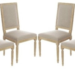 Set Of 4 Dining Chairs Contemporary Office Canada Vintage Style French Square Upholstered Side