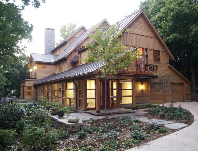 Hill Section Home rustic-exterior