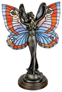 Butterfly Fairy Stained Glass Lamp - Victorian - Table ...