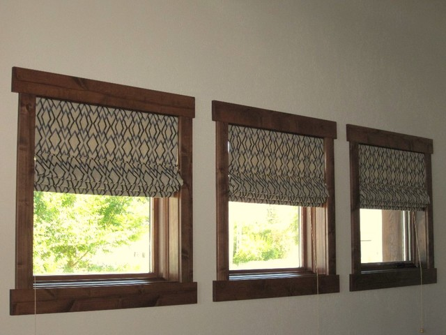 Roman Shades  Inside Mount  Traditional  Dining Room