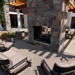 Outdoor Swivel Rocking Chairs Wheelchair Near Me Pea Gravel Patio And Fireplace - Traditional Baltimore By Clearwater ...