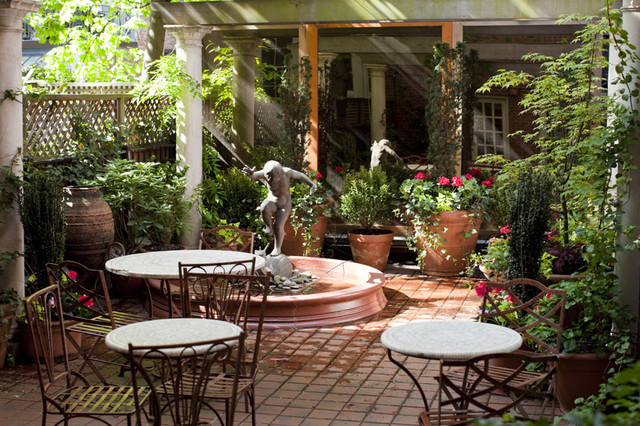 small end tables for living room canada best furniture reviews nyc courtyard garden design: mediterranean patio, bistro ...