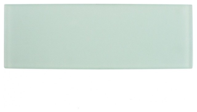 contempo seafoam 4x12 frosted glass tile sample