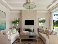 Coastal Contemporary - Beach Style - Living Room - Miami ...