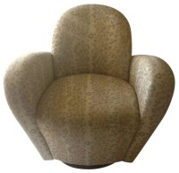 1980s Swivel Club Chairs - A Pair - Contemporary ...