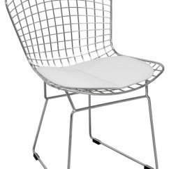 Mid Century Modern Wire Chair Steel Tent House Chrome Dining Side Contemporary Chairs By Mod Made