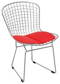 Mid Century Modern Chrome Wire Dining Side Chair ...