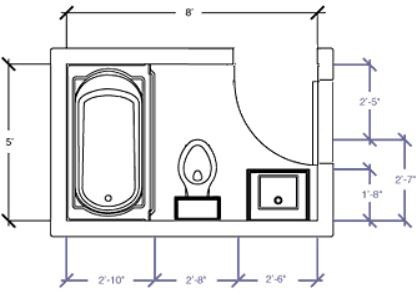Bathroom Layout Ideas 5 X 7