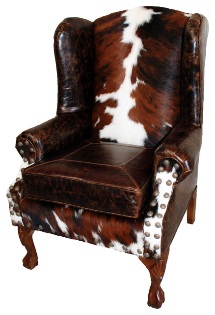 Santa Fe Wing Back Chair  Southwestern  Armchairs And
