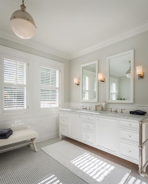 Neutral spa-like white bathroom (Intense White)