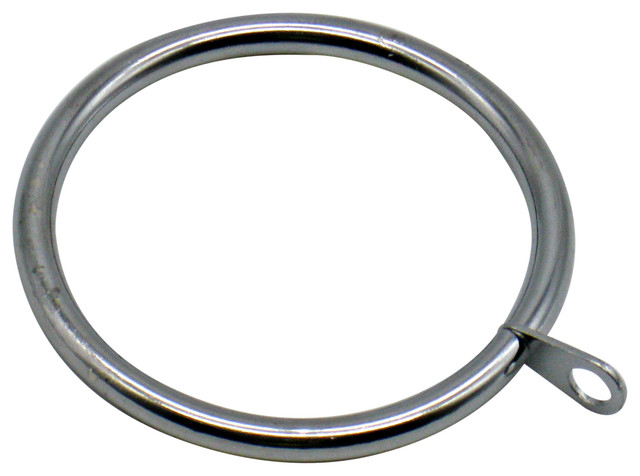 metal rings with eyelet set of 20 polished chrome 1 25 dia