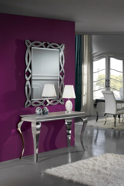 Contemporary Console Table And Mirror Set Ronniebrownlifesystems