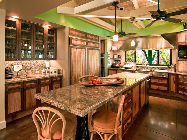 kitchen remodel hawaii child set hawaiian cottage style - tropical by ...