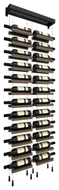 buoyant wall mounted cable wine rack