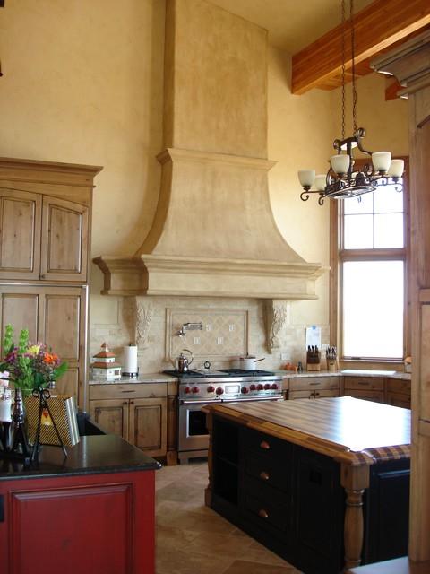 Kitchen High Ceiling Range Hood Detail
