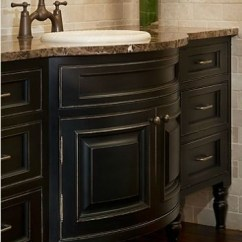 Kitchen Cabinet Lights Electrical Outlets Bathroom Vanity Ideas With Black Painted Cabinetry ...