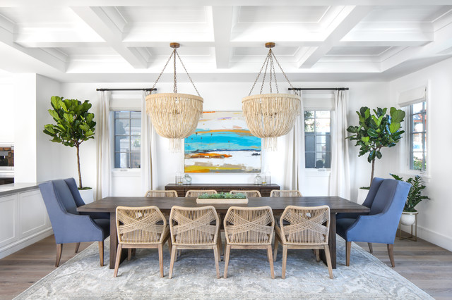 Coastal Modern beach-style-dining-room