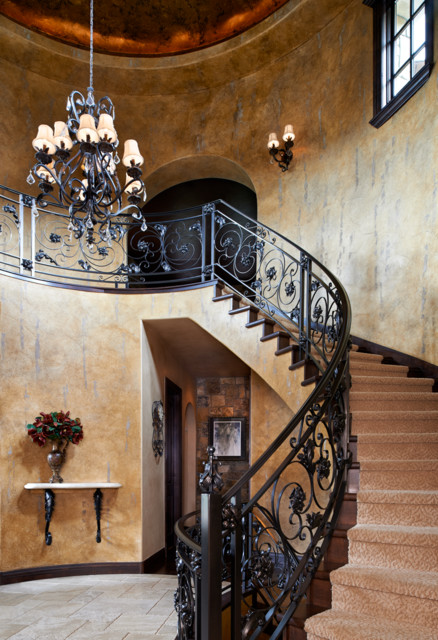 Colorado Tuscan House And Pool Mediterranean Staircase