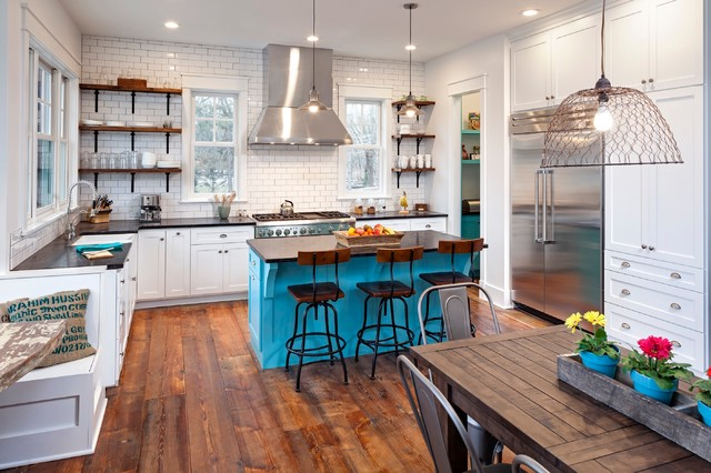 Wahoo Lake house kitchen  Eclectic  Kitchen  chicago
