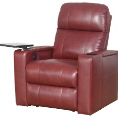 Red Recliner Chairs Hair On Hide Chair Abbyson Living Murphy Power Leather Contemporary By