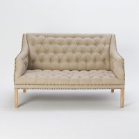 Gramercy Tufted Love Seat, Ivory - Traditional - Loveseats ...