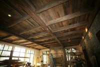 Reclaimed Barnwood Ceiling and Beams