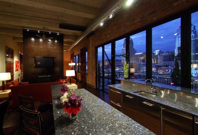 narrow kitchen countertops cabinet manufacturers downtown kansas city loft