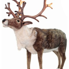 Animal Rugs For Living Room Small Coffee Table Life-size Nordic Reindeer Stuffed - Transitional ...