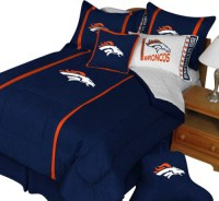 NFL Denver Broncos Twin Comforter Pillow Sham MVP Bed Set