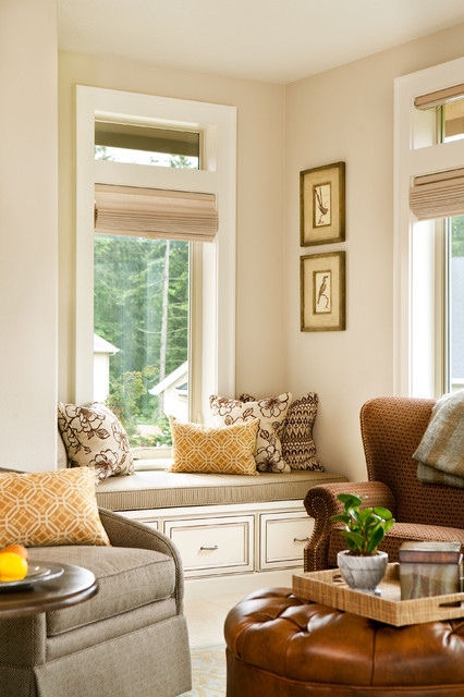 Basic, Sophisticated Hues traditional-living-room