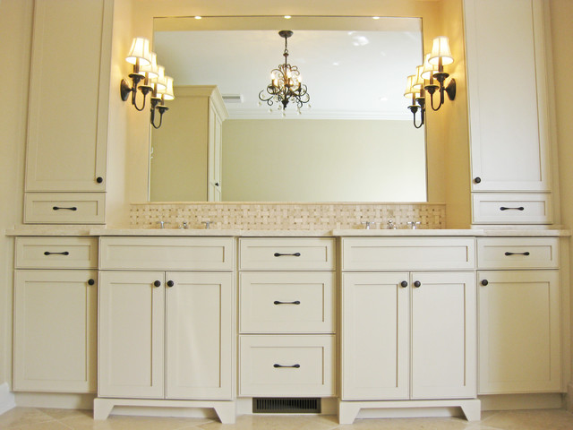Master Bathroom Double Vanity with Towers  Traditional