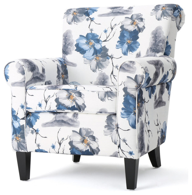 white club chairs elegant chair covers and linens manon blue floral print fabric contemporary armchairs accent by gdfstudio