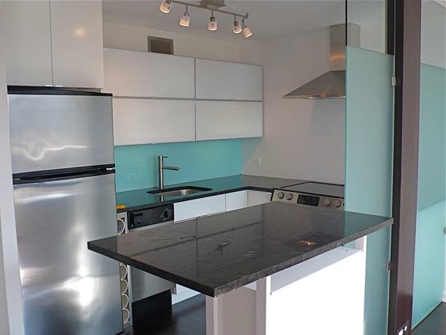 Kitchen Rehab In SMALL Studio Condo Contemporary Kitchen