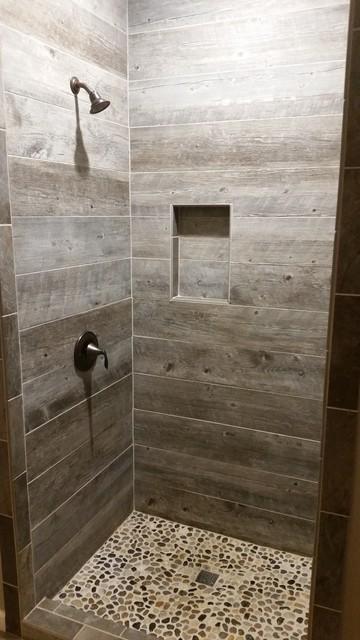 Barnwood Tile Shower Rustic Bathroom Other