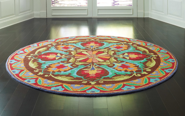 Round Rugs Company C Porcelain Modern Dining Room Boston By Company C