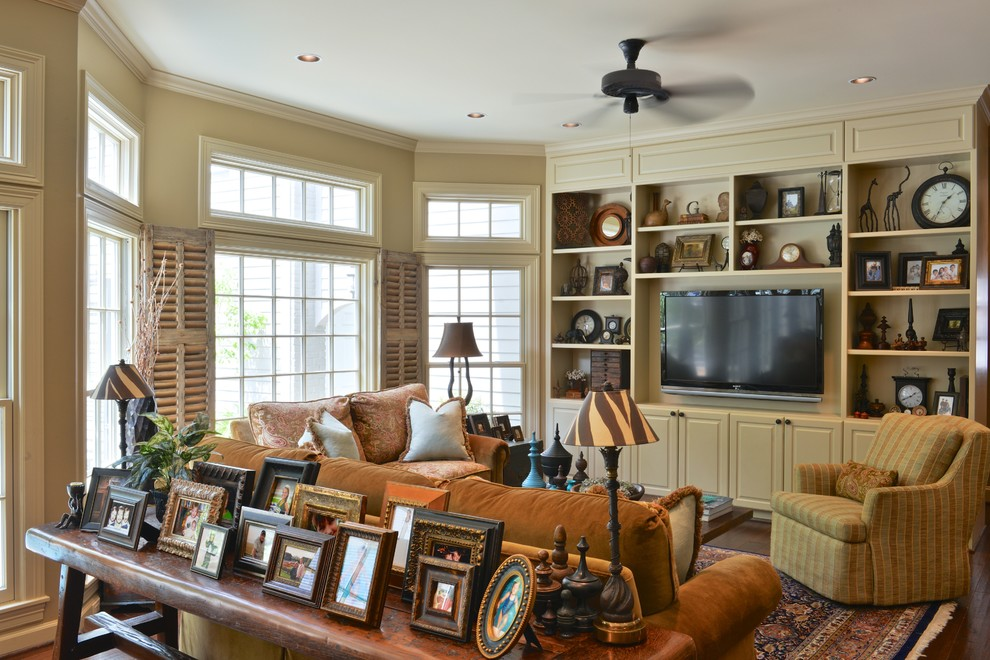 Suburban Home in West Houston - Traditional - Family Room ...
