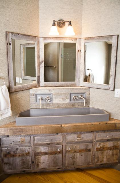 Custom corner vanity  Rustic  Bathroom  Other  by