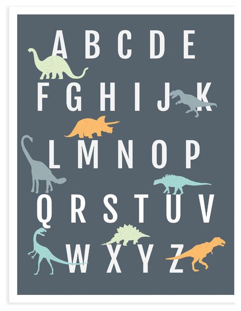 dinosaur alphabet poster 11 x14