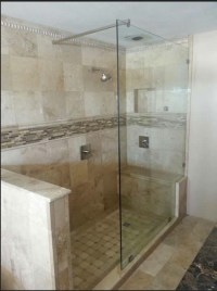 Best support bar options for our frameless shower?