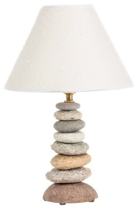 Coastal Rock Lamp - Beach Style - Table Lamps - by funky ...