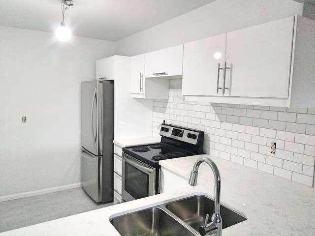 L Shape Kitchen 10 Ft X 6 Ft With Withe Quartz Countertop Toronto By Easy Afford Kitchen Installation Inc