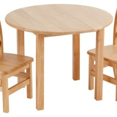 Just Chairs And Tables The Emperor Chair 30 Round Hardwood Table 2 3 Rung Transitional Kids By Ecr4kids