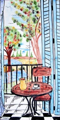 Hand Painted Mosaic Murals - Contemporary - Tile - orlando ...