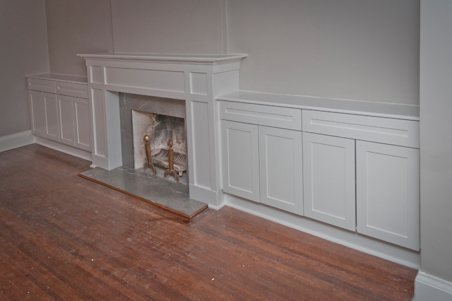 North Forest Hill mantle with storage  Craftsman